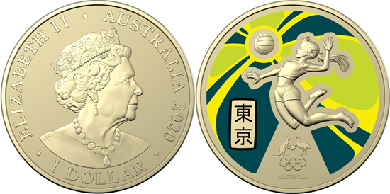 Australia 1 dollar 2020 - Australian Olympic Team
