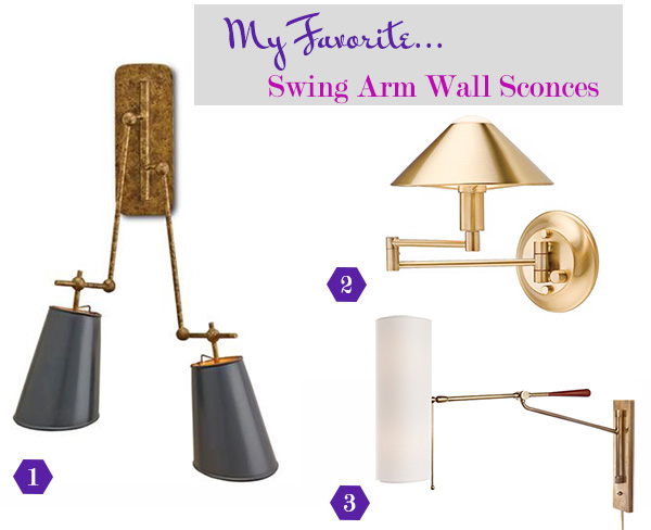 Interiors by jacquin swing arm lighting perfected style for Home interior 5 arm sconce