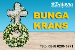Toko Bunga di Bekasi - Jual Bunga Krans Salib Duka Cita
