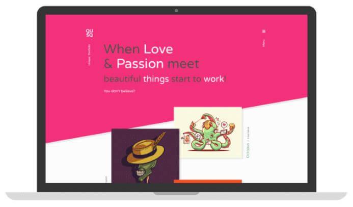 Qusq Pro v1.2 - Flat Colorful Portfolio Theme WordPress