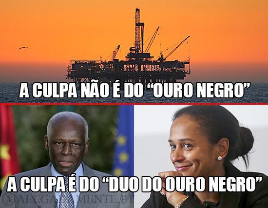 """Imagem de José Eduardo dos Santos e da sua Filha Isabel dos Santos – A culpa não é do """"Ouro Negro""""; A culpa é do """"Duo do Ouro Negro"""""""