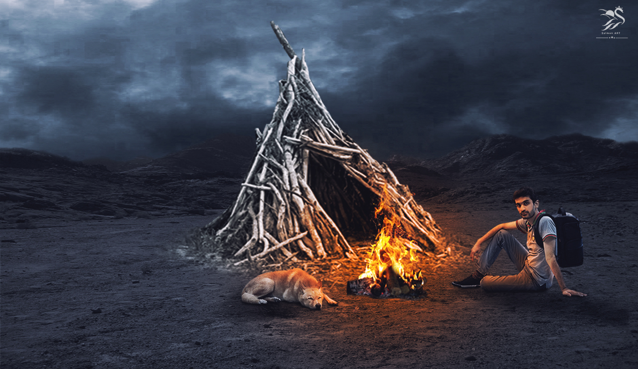 Fire camp photo manipulation photoshop tutorial edit by salman ibrahim baditri Gallery