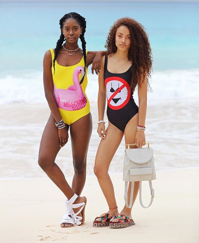 2016 SS Moschino No Bikinis Allowed Swimsuit Editorials