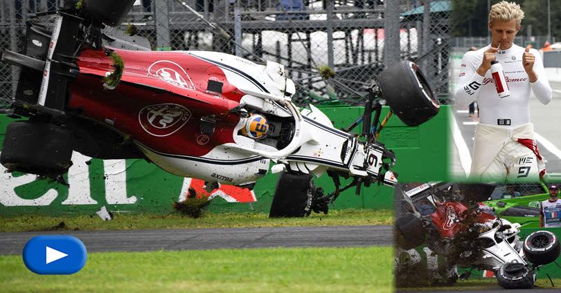 Ιταλία - Το Τρομακτικό Ατύχημα του Marcus Ericsson στη Monza