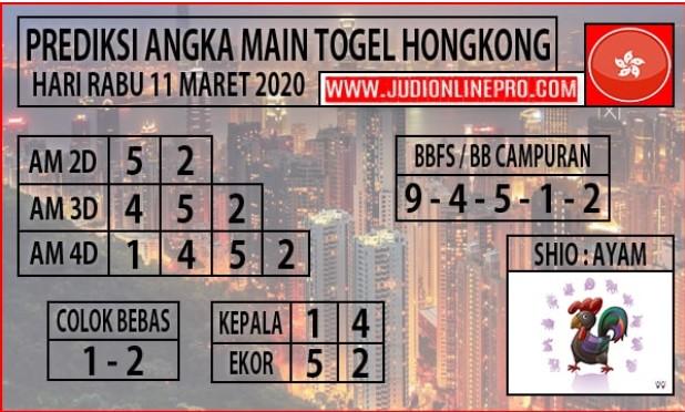 Prediksi Togel Hongkong Malam Ini Rabu 11 Maret 2020 - Prediksi Angka Main HK