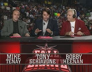 WCW Fall Brawl 1999 - Mike Tenay, Tony Schiavone, Bobby 'The Brain' Heenan