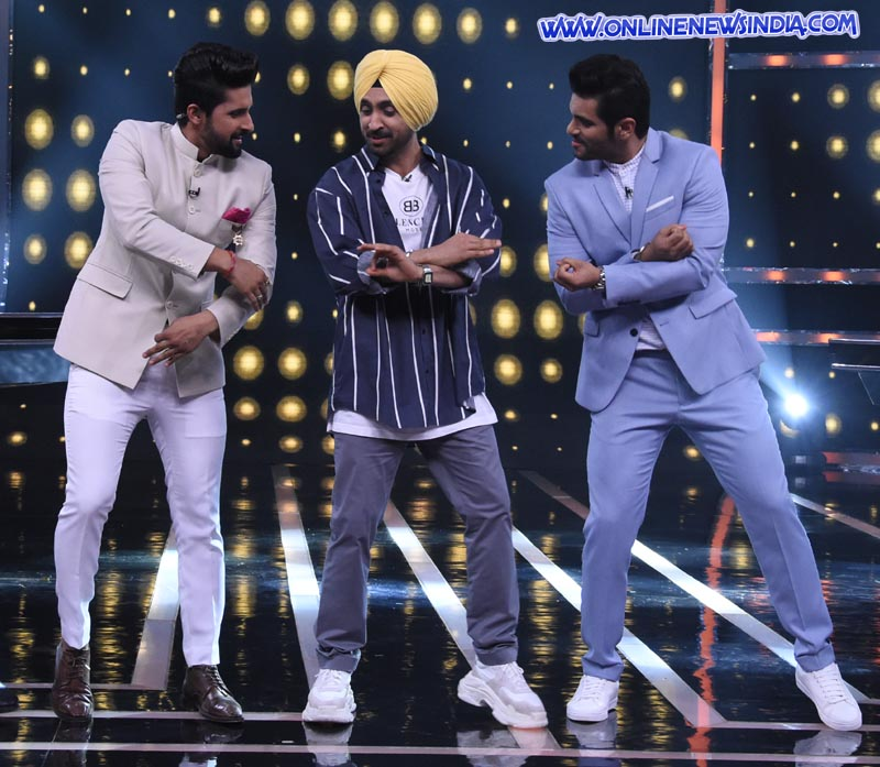 Diljit Dosanjh on the set of Sabse Smart Kaun