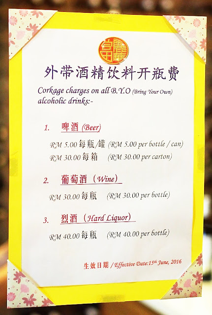 Corkage Charges