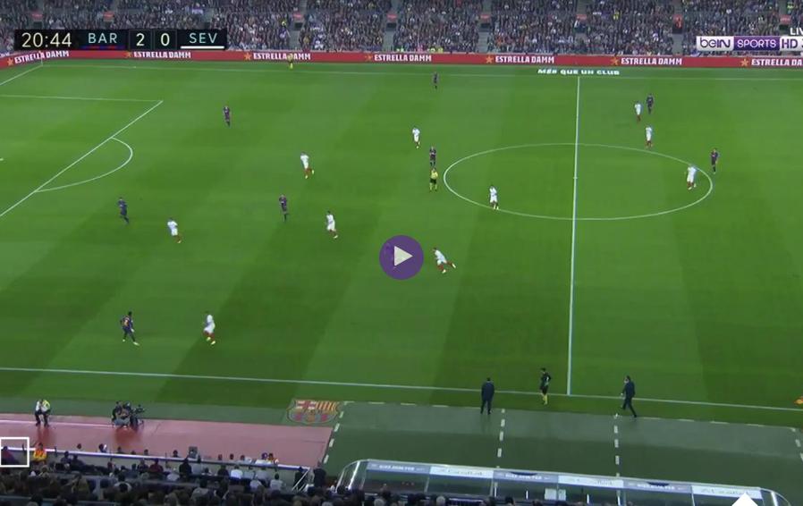اهداف مباراة برشلونة وإشبيلية الدورى الاسبانى السبت 20-10-2018