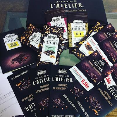 Les Recettes de l'Atelier, degustación, proyecto, nestle, chocolate, chocolates Atelier, cocina,