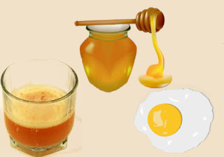 Potato Juice, Honey, and Egg Mask