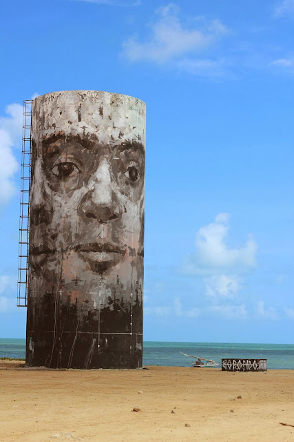 Street Art By Borondo For The Festival Concreto On The Beach Of Fortaleza, Brazil. 1