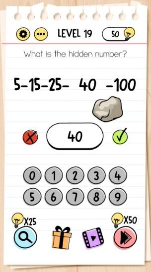 kunci jawaban brain test level 19