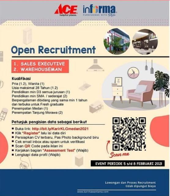 Lowongan Kerja Medan Februari 2021 Tamatan Sma Smk D3 Di Kawan Lama Group Krisbow Ace