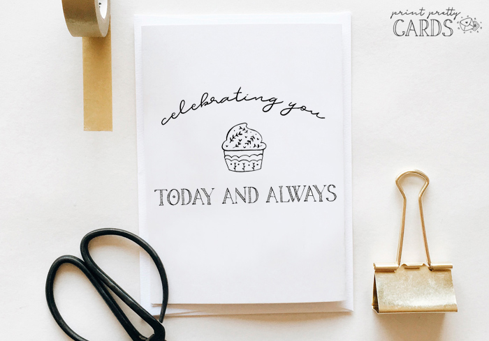 Black And White Printable Birthday Cards Print Pretty Cards