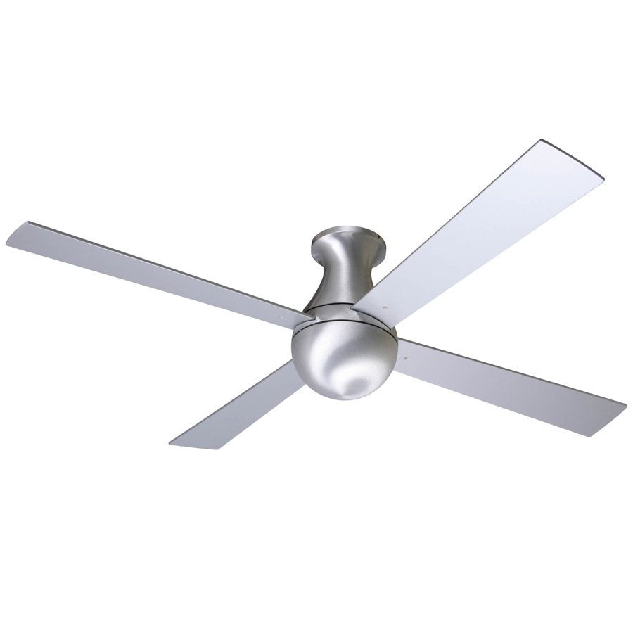 Contemporary Ceiling Fans Ball/whirlybird Flushmount Ceiling Fan Ball Hugger, Gloss