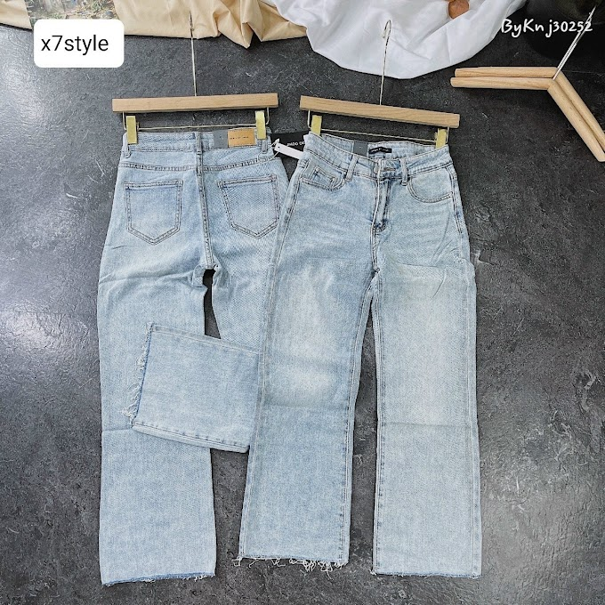 Quần jean nữ ống rộng- X7FQJR17