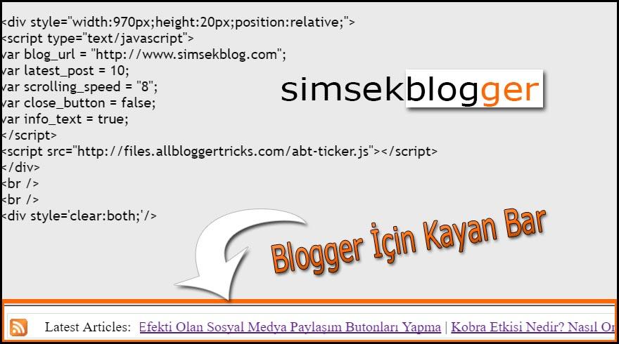blogger için son yazılar eklentisi