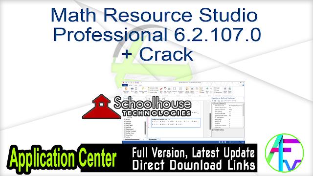 Math Resource Studio Professional 6.2.107.0 + Crack