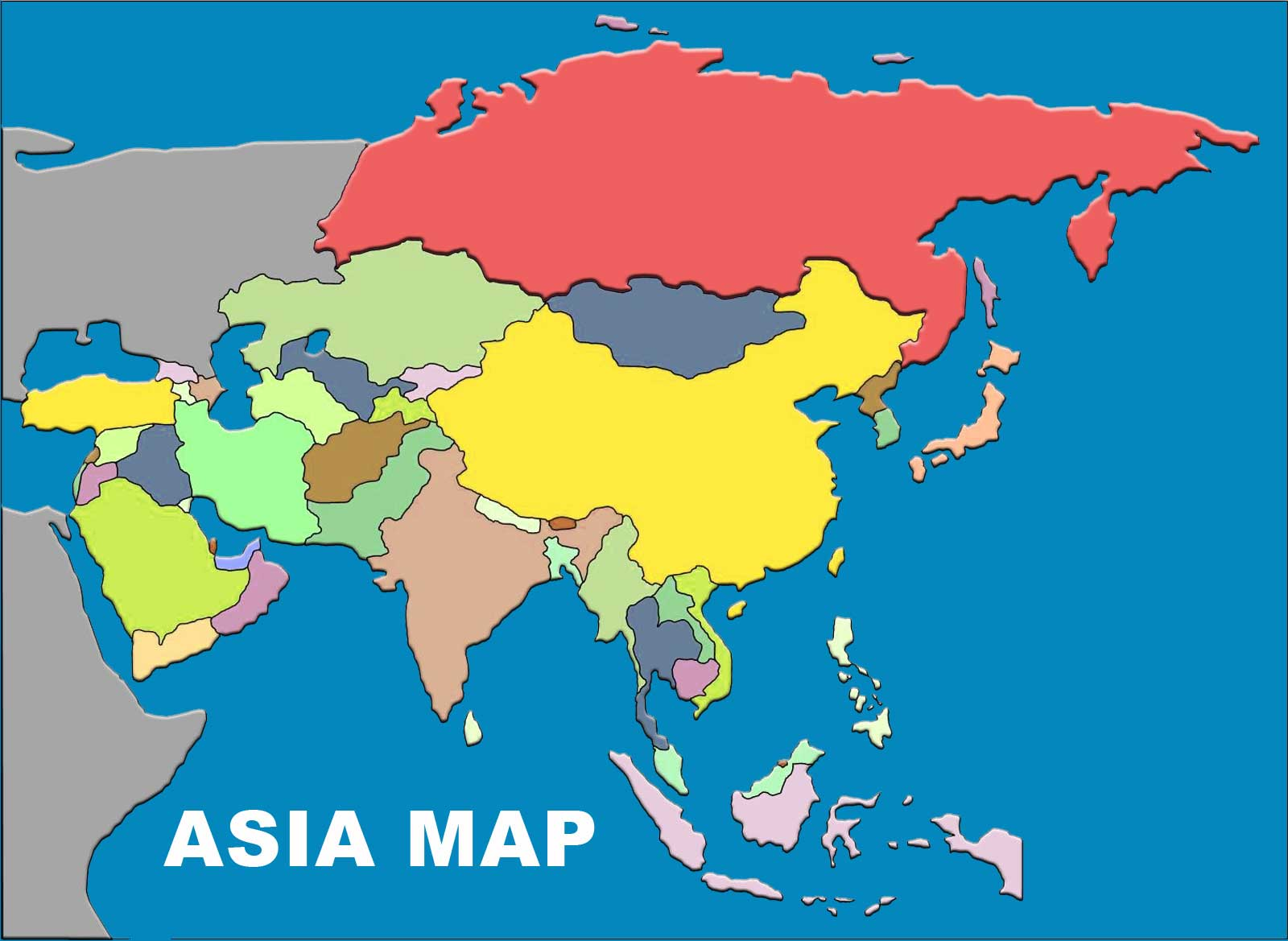 Map Of Asia Without Names.Asia Map With Country Names And Capitals Peta Dunia Sejarah
