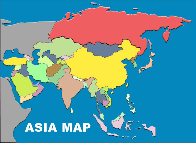 asia map without names