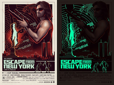 Escape from New York Glow in the Dark Variant Movie Poster Screen Print by Matt Ferguson x Grey Matter Art