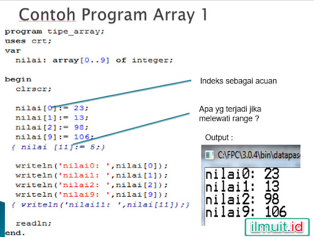 program array sederhana 1 dimensi