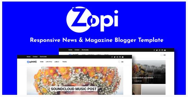 ZopiMag Template Blogger Responsive