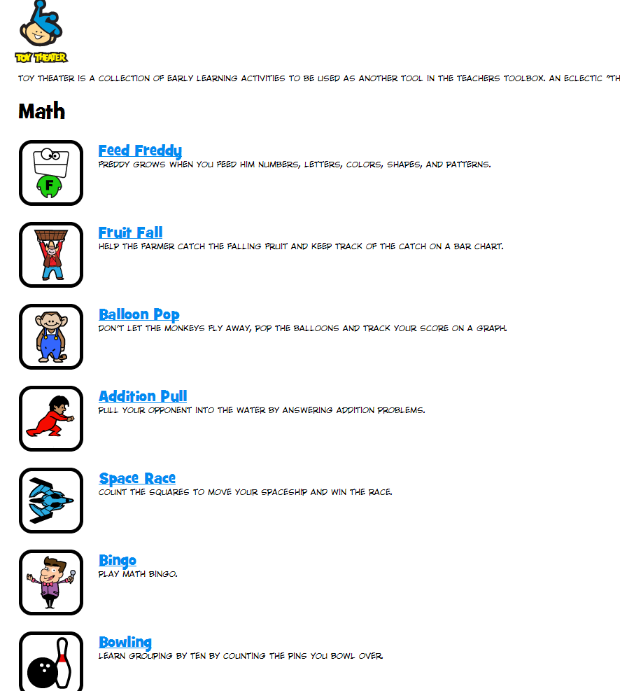 learning never stops great math websites for students of any age toy theater is a great website for teachers to use to help reinforce math concepts in a fun and engaging way
