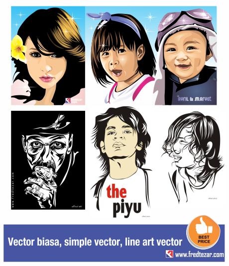 wpap vector, edit foto menjadi vector, simple, pop art