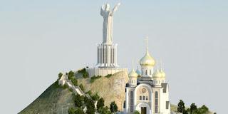 روسيا تُشيّد تمثالاً ضخماً ليسوع في المكان الذي كان مخصص سابقاً لتمثال لينين