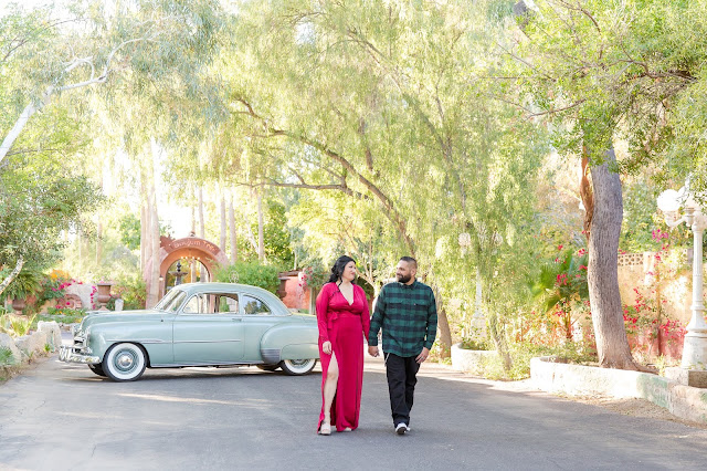 Boojum Tree Engagement Session with a 51 Chevy Deluxe by Micah Carling Photography