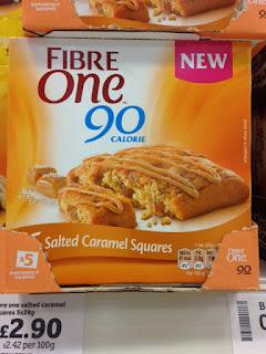 fibre one salted caramel squares