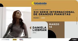Concierto de la pianista Daniela Liebman en Colombia