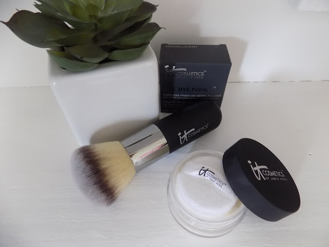 IT Cosmetics Bye Bye Pores Poreless Powder With Brush qvc beauty cosmetics