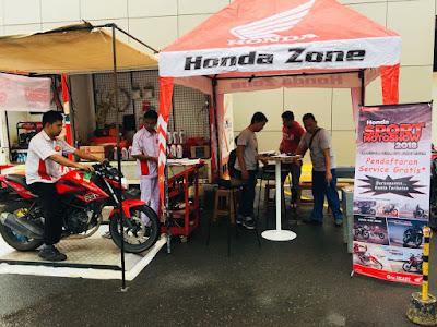 Service Gratis Honda Sport Motoshow Batam
