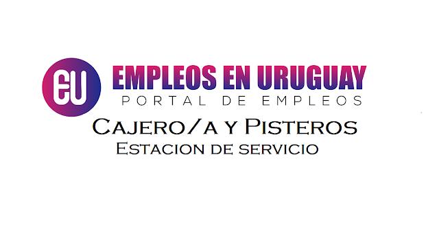 trabajo en montevideo Cajero/a y Pisteros - ESTACIÓN DE SERVICIOS