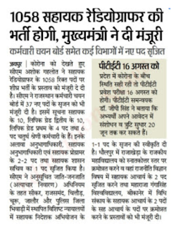 radiographers bharti 2020 1058 vacancy