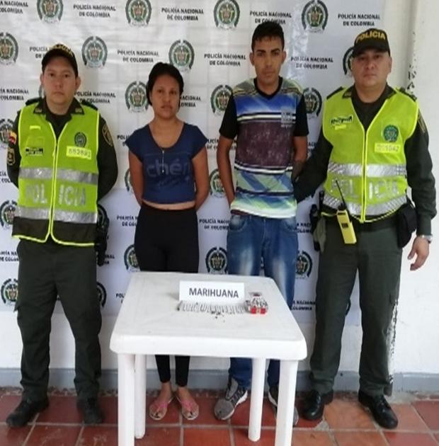 Pareja de venezolanos expendía marihuana en San Alberto