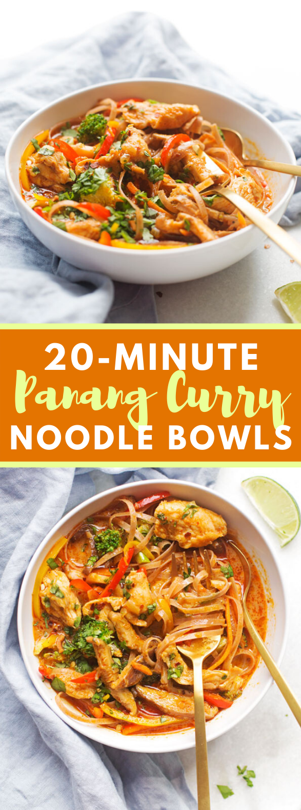 20 – MINUTE CHICKEN PANANG CURRY NOODLE BOWLS #weeknightdinner #veggies