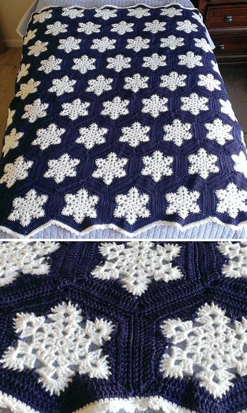 Snowflake Afghan - Free Pattern