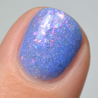 periwinkle nail polish with flakie