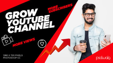 Professional Tech Youtuber thumbnail Design Template PSD Free Download