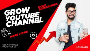 Free Download Tech YouTube Thumbnail PSD