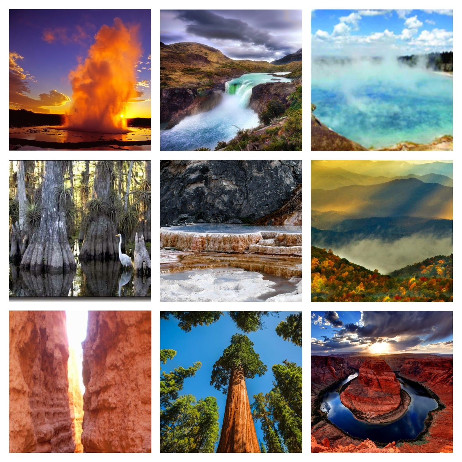 Collage Of Breathtaking Images From Many US National Parks