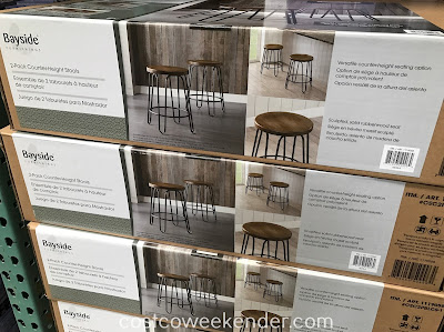 Costco 1119058 - Bayside Furnishings Counter-Height Stools (2-pack): simple yet functional seating at a cost-effective price