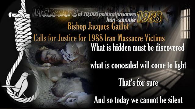 Bishop Jacques Gaillot Calls for Justice for 1988 Iran Massacre Victims