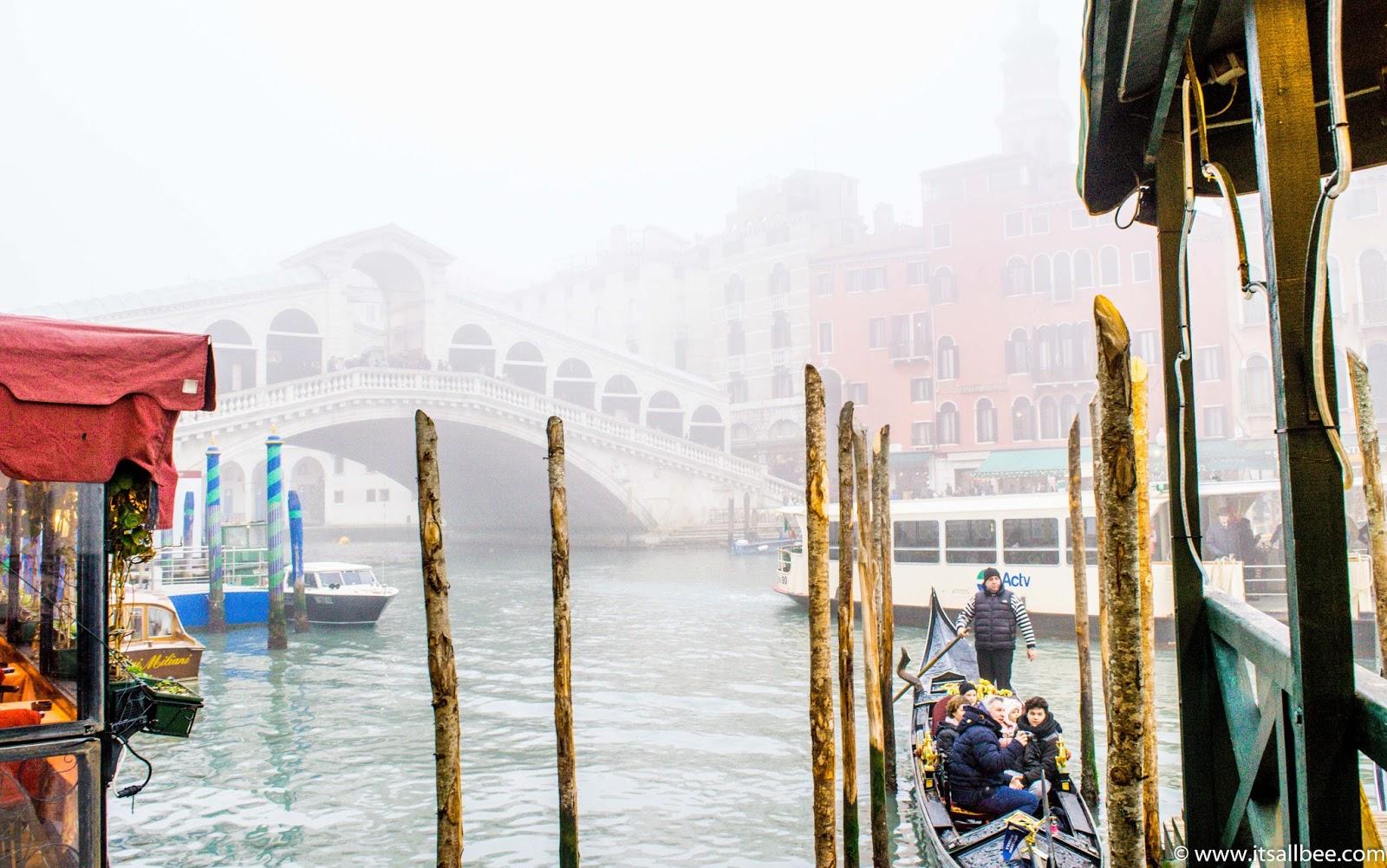 Rialto Bridge Venice - Gondola
