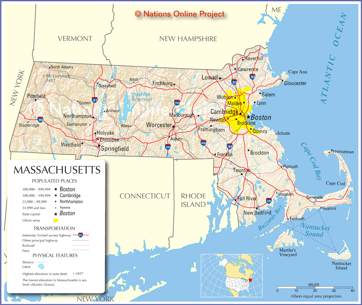 Map Counties Western Rhode Island
