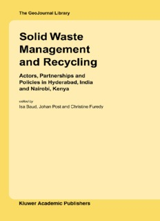 Solid Waste Management and Recycling Book PDF